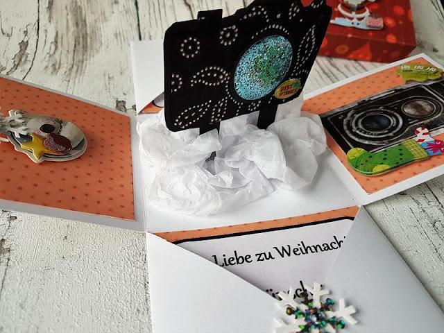 Explosionsbox als Geschenkgutschein basteln