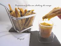 Boquerones fritos con chutney de Mango