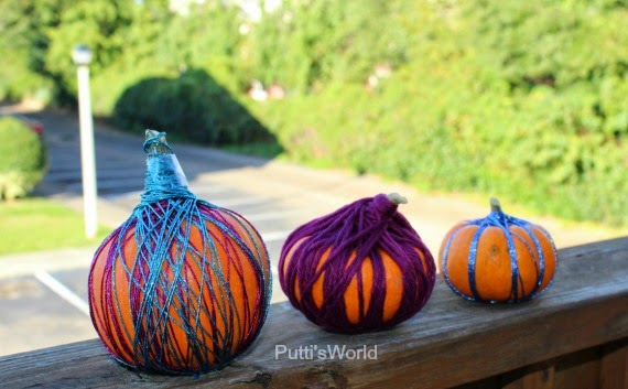 Yarn Wrapped Pumpkins - Kids, No-carve Decorating Idea