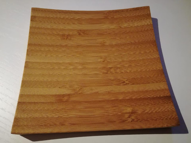 Piatto in bamboo di GMA Serigrafia