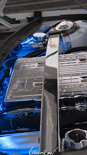 Blue Lightning Custom Chevrolet Camaro ZL1 Engine Bay