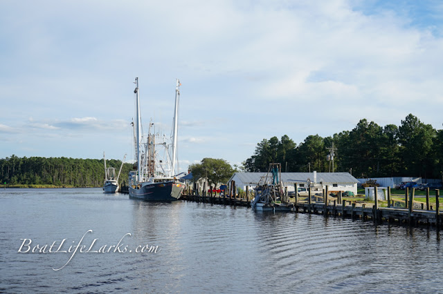 Fishing boats on the Intracoastal Waterway, Hobucken, North Carolina