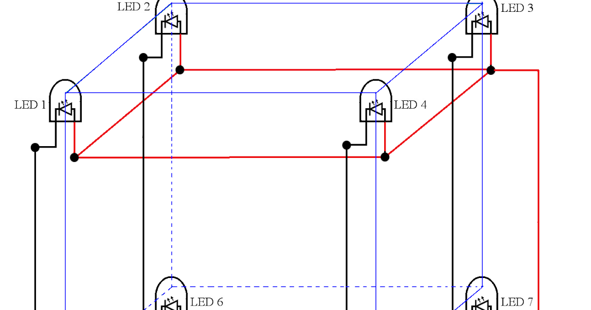 Fine Circuit Diagram Of A 2 2 2 Led Cube Part 1 Of 13 Funny Electronics Wiring 101 Dicthateforg