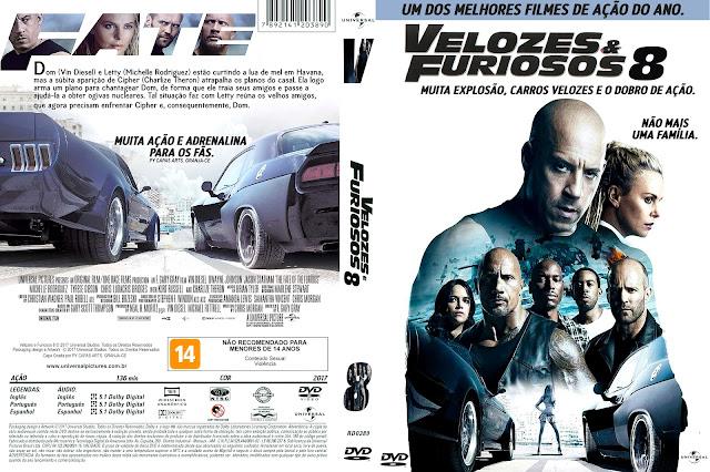 Capa DVD Velozes e Furiosos 8