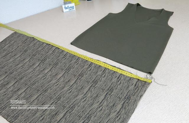 cuánto hay que fruncir una falda