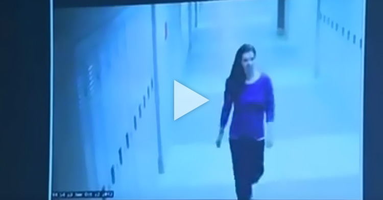 Teacher's final moments before she was stabbed by her student caught on CCTV