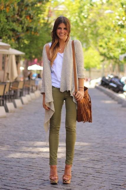 Pantalones color verde hoy bella consejos de belleza y estilo Vetement tendance pantalon fashion style militaire