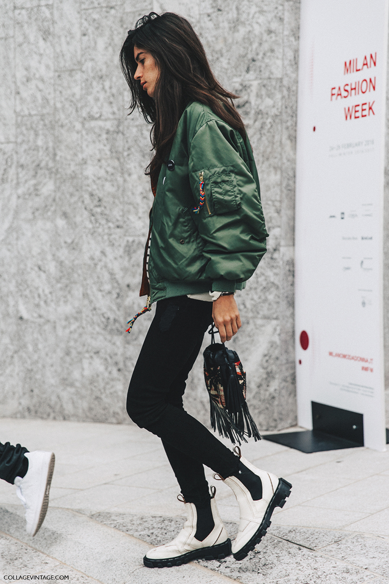 Milan_Fashion_Week_Fall_16-MFW-Street_Style-green-bomber-jacket