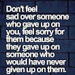Dont feel sad over someone | Famous Image Quotes