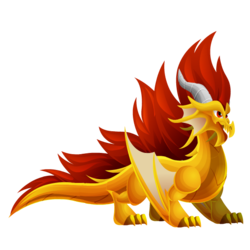 Appearance of Crest Dragon when adult