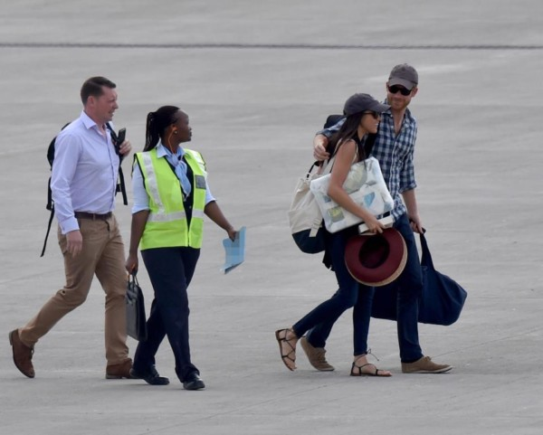Prince Harry and girlfriend Meghan Markle arrive Southern Africa for Birthday Safari
