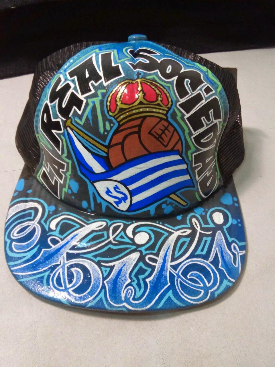 Gorra Customizada Real%2BSociedad.%2B(3). gorras planas graffiti 53ace495c4c