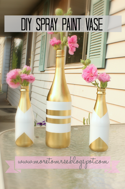 DIY how to spray paint a bottle vase