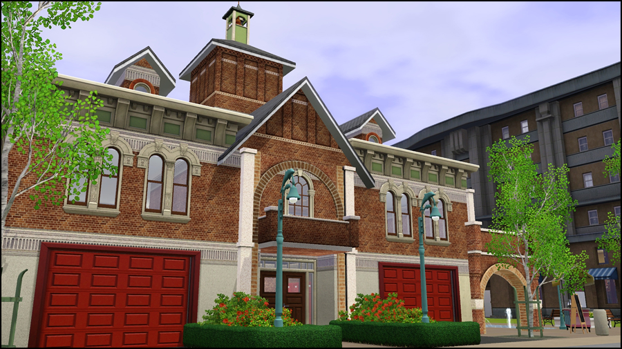 My Sims 3 Blog: Sunset Valley Fire Department
