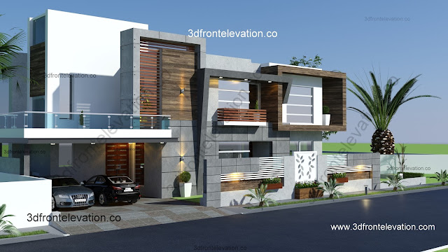 Home Design Ideas Elevation: 3D Front Elevation.com: Modern House Design Of Brazil