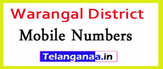 Chennaraopet Mandal Sarpanch Upa-Sarpanch Mobile Nembers List Warangal District in Telangana