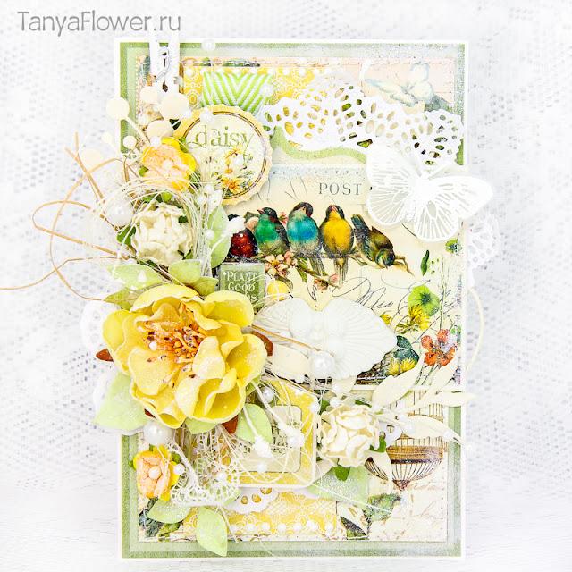 открытка ручной работы на свадьбу день рождения