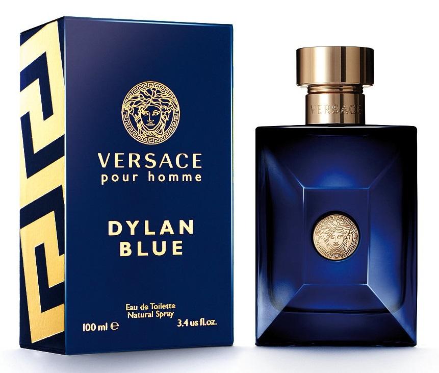 new versace pour homme blue eau de toilette spray size retail packaging