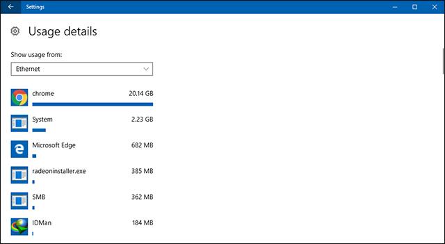 معرفة التطبيقات والبرامج الاكثر استهلاكا للانترنت في ويندوز 10 وتقليل استخدام بيانات الانترنت في الويندوز