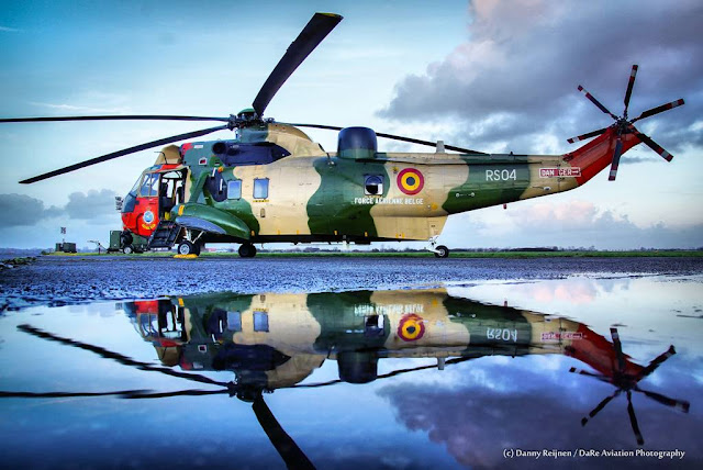 Farewell Belgian Sea King helicopter