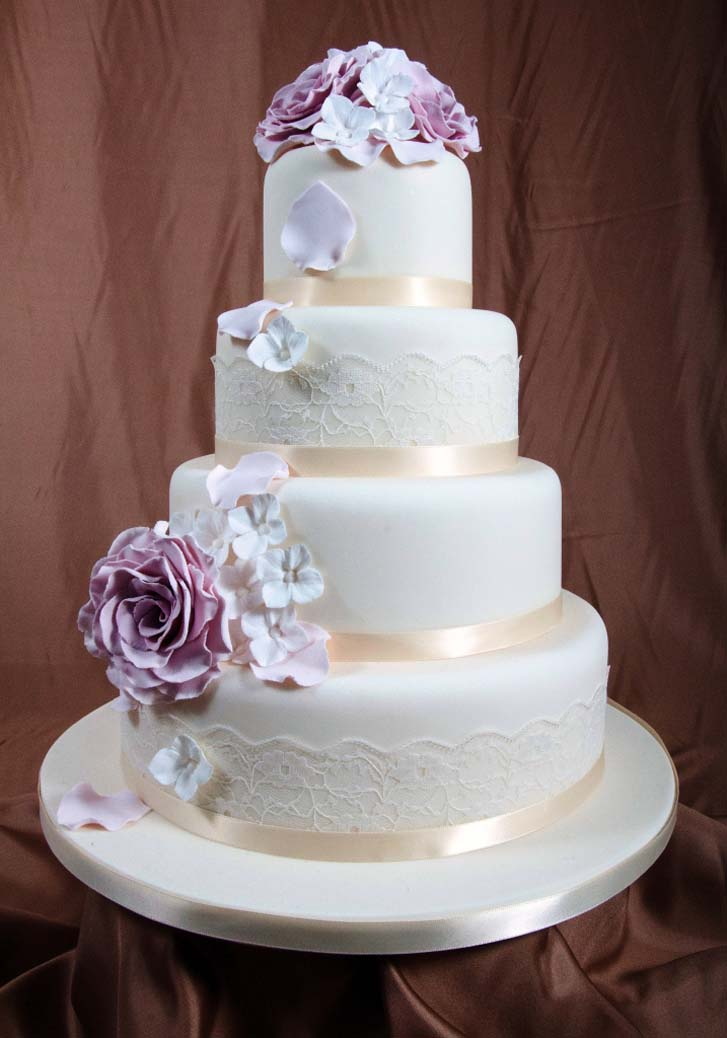 Awesome 4 tier wedding cake cake magazine for Wedding cake layer