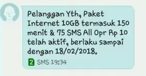 paket internet telkomsel kuota 10GB rp10 bonus registrasi prabayar
