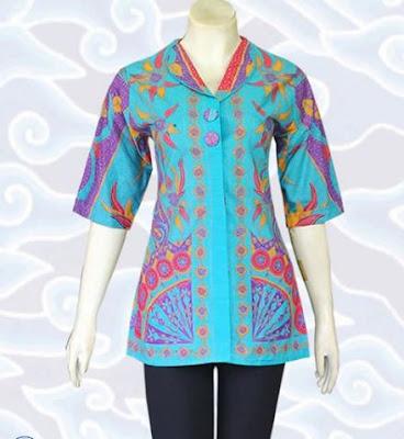 Contoh Model Baju Batik Atasan remaja