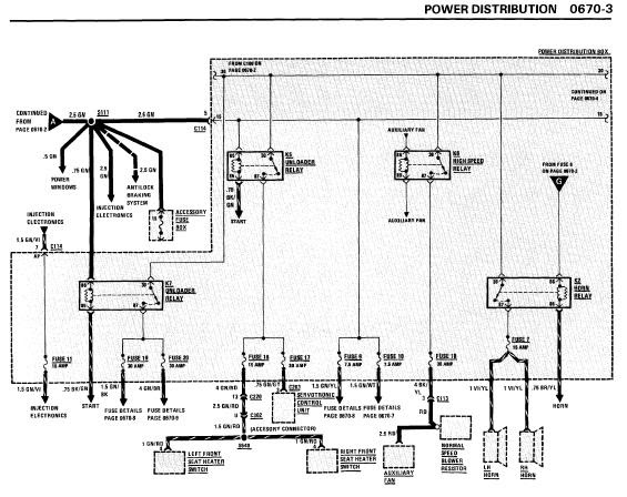 1988 bmw 635csi fuse box diagram 1988 cadillac deville