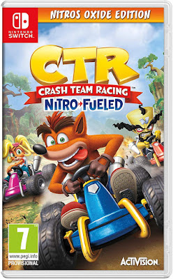 Crash Team Racing Nitro Fueled Game Cover Nintendo Switch