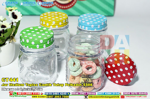 Jar Medium Toples Cantik Tutup Polkadot 5508