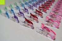 unten: GWHOLE Stoffklammern Wonder Clips Nähen Zubehöre Kunststoff 60 Stück 6 Farben