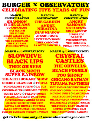 BURGER X OBSERVATORY - 5 YEARS OF FUN- Is in Full Swing in Santa Ana, California and it is AWESOME -March 7 to 13