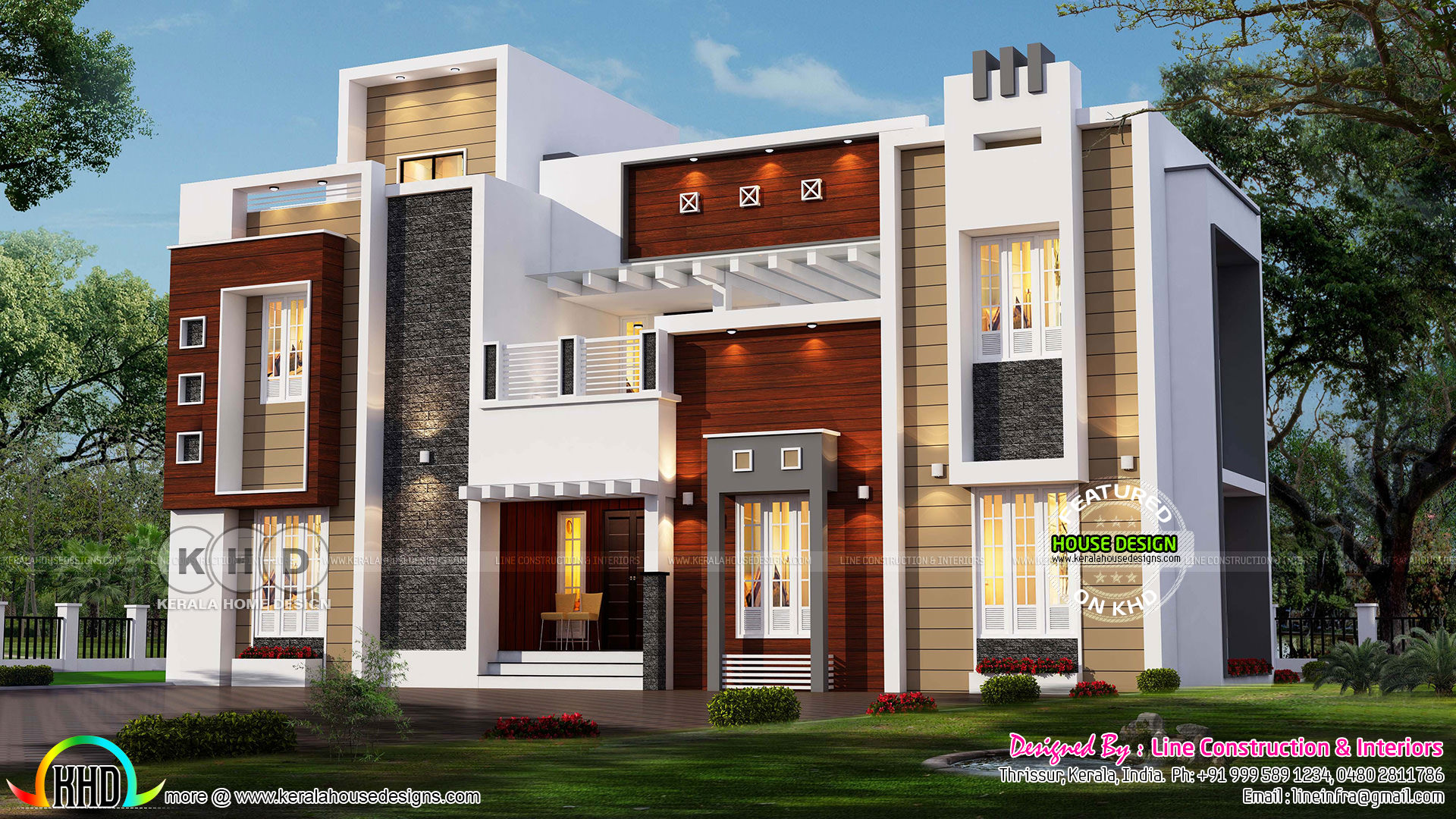 Luxurious decorative contemporary home & 2017 - Kerala home design and floor plans
