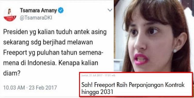 Kena Tipu Soal 'Jihad Jokowi Melawan Freeport', Tsamara Mendadak Bisu dan Tuli
