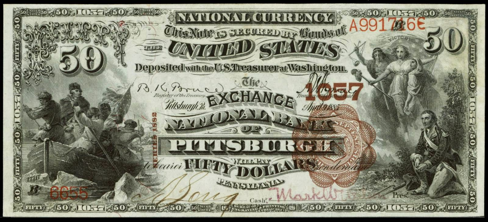 National Currency 1882 50 Dollar bill
