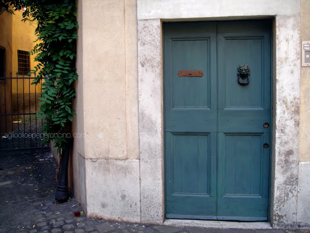 green doors in rome