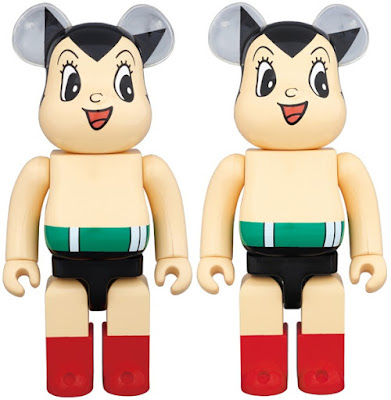 Astro Boy 400% & 1,000% Be@rbrick Vinyl Figures by Medicom