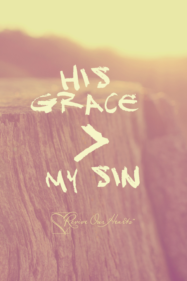 God's grace and mercy is greater than our sins