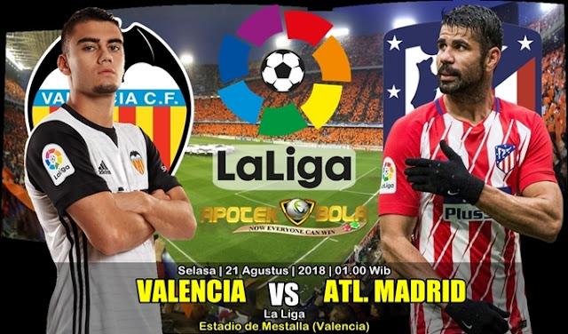 Prediksi Valencia Vs Atletico Madrid 21 Agustus 2018