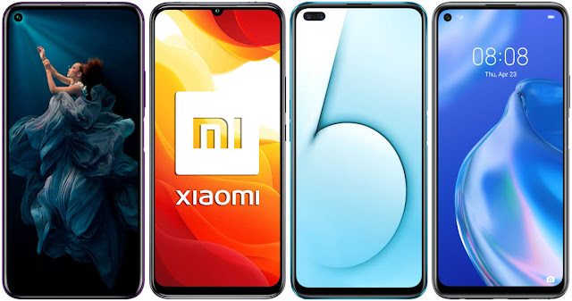 Honor 20 Pro vs Xiaomi Mi 10 Lite 5G vs Realme X50 5G vs Huawei P40 Lite 5G