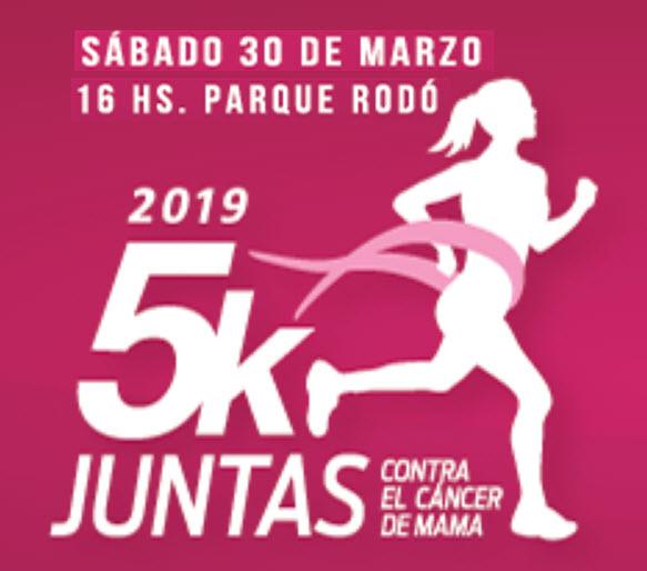 5k Juntas contra el cáncer de mama (Canteras del parque Rodó - Montevideo, 30/mar/2019)