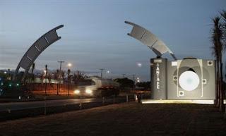 Portal da cidade de Santa Fé, capital da fotografia