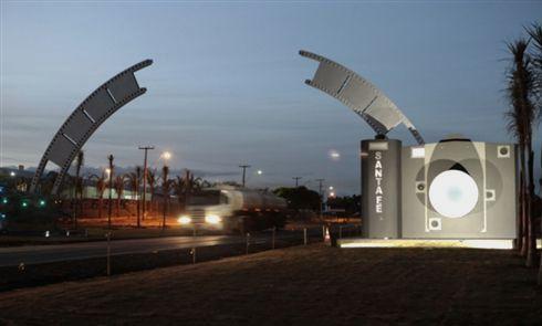 Portal da cidade de Santa Fé, a capital da fotografia