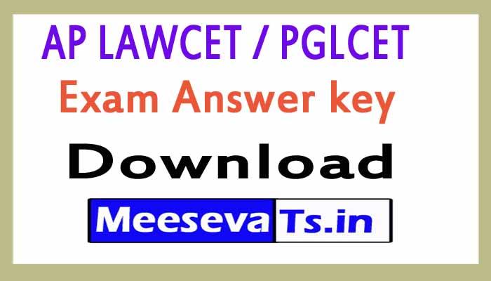 AP LAWCET / PGLCET Exam Answer key Download 2018