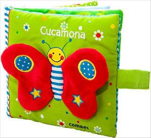 cuento infantil de tela canastilla bebé Cucamona combel editorial