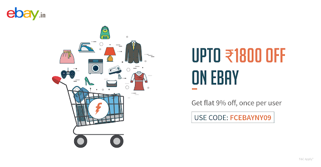 Ebay 9 % Off Coupon Upto Rs 1800 OFF