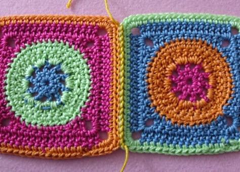 Elealinda Design Mini Tutorial Granny Squares Verbinden