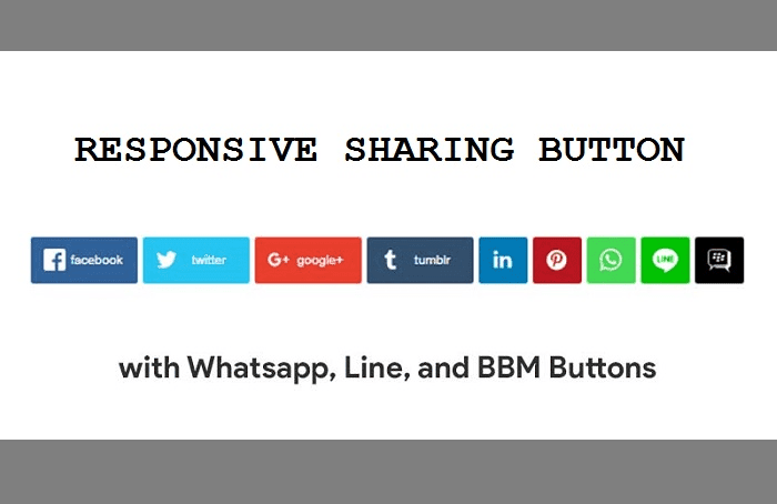 Responsive Share Button Terbaru