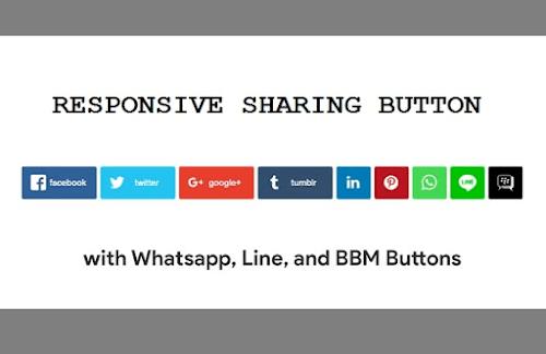 Membuat Share Button Responsive With Whatsapp, Line & BBM
