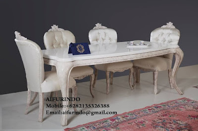 Indonesia Furniture Exporter,Classic dining table Furniture,French Provincial dining table Furniture Indonesia code A101
